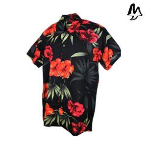 Camicia Hawaiiana Barcelona Black