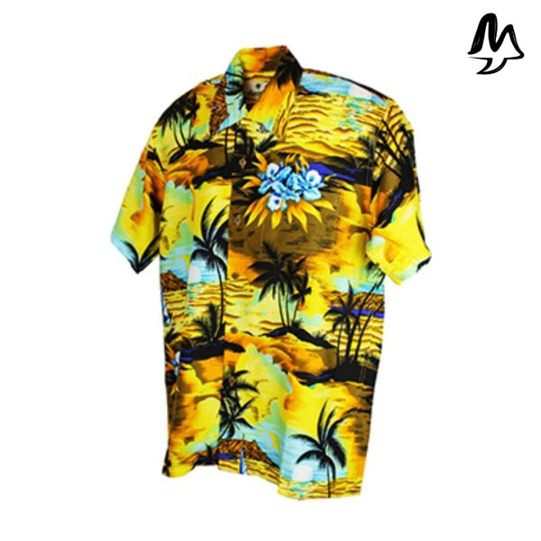 Camicia Hawaiiana Sunset Yellow