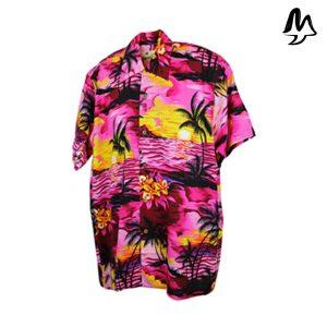 Camicia Hawaiana rosa