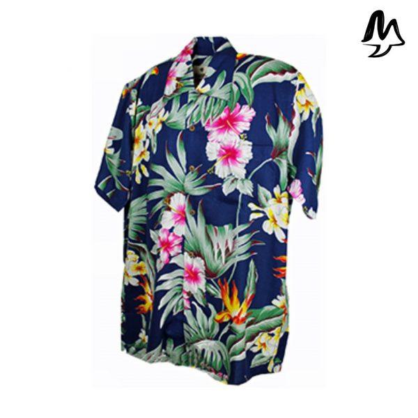 Camicia Hawaiana blu