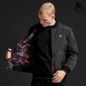 Giacca Dolly Noire Reversible Bomber Glitch Camo