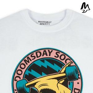 T-Shirt DOOMSDAY SOCIETY Hammered Retro White