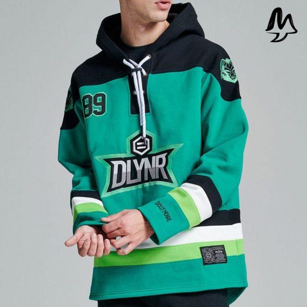 Felpa Dolly Noire Green Hockey Hoodie