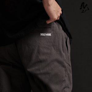 Pantaloni Dolly Noire Logo Jogger Ripstop Antracite