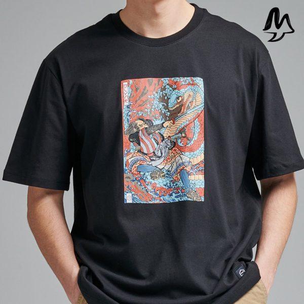 T-shirt Dolly Noire Kuniyoshi Black