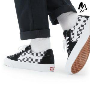 "Vans ""Sk8 Low"" Black/Checkerboard"
