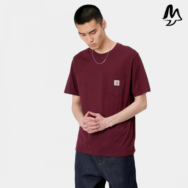 T-Shirt CARHARTT Poket Tee (Bordeaux)