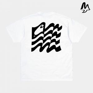 T-Shirt CARHARTT Wavy State White