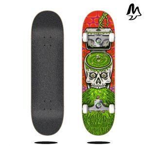 """Skateboard Completo Cruzade SKULL SWIRL 8"""""""